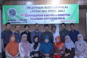 Pelatihan Auditor LPPOM MUI Provinsi Bali